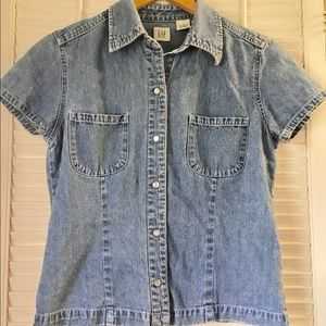 Gap Denim Top size M
